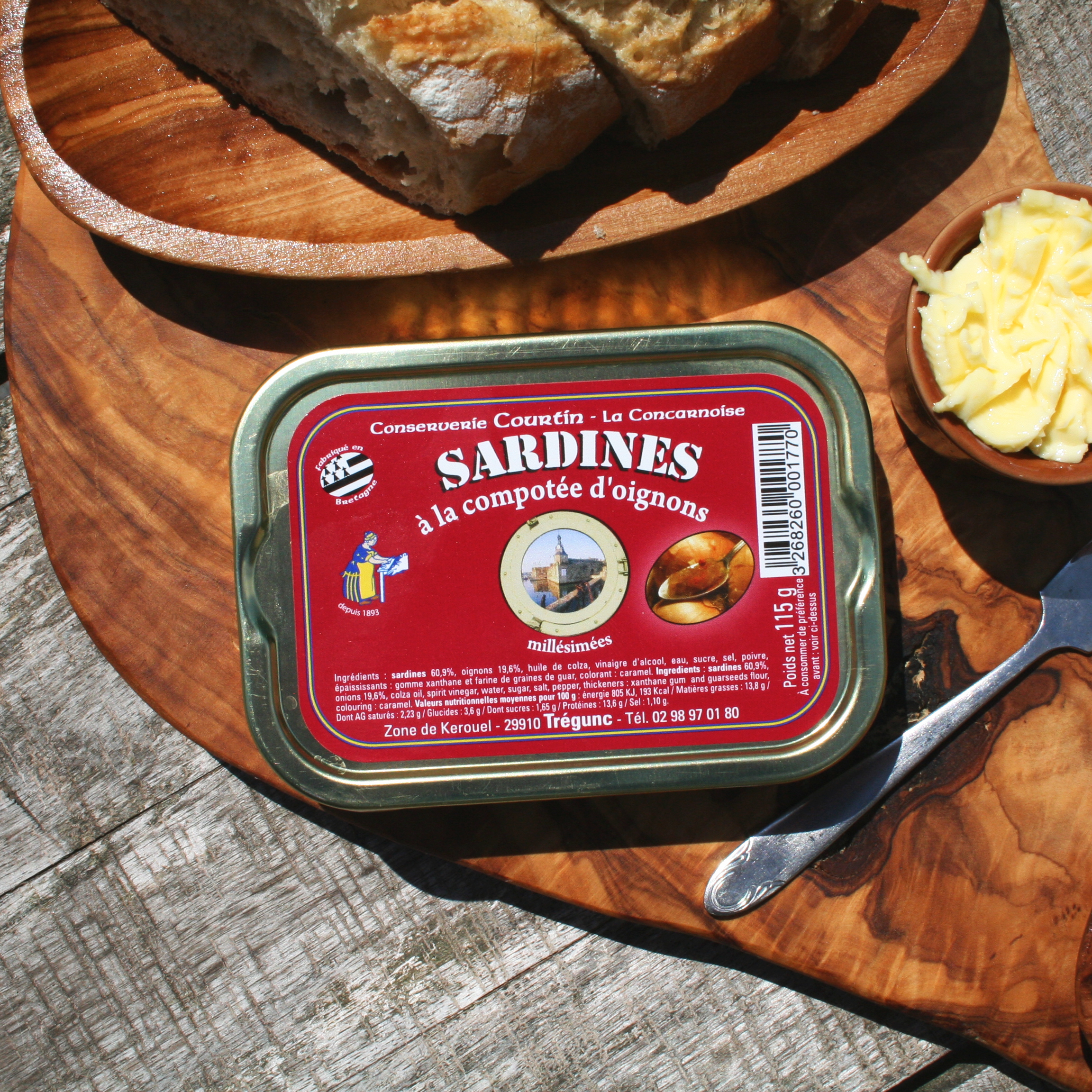 Sardines Courtin Concarneau Bretagne Frankrijk conserven delicatesse gezond premium